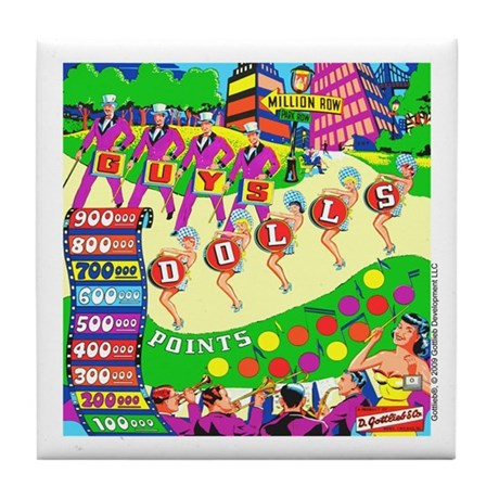 Gottlieb&reg; &quot;Guys Dolls&quot; Tile Coaster