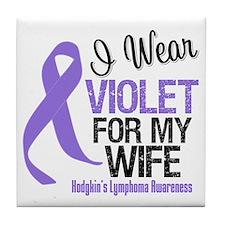 I Wear Violet For My Wife Tile Coaster