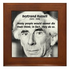 Pioneer in Thought: Russell Framed Tile