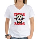 Zombie Panda Women's V-Neck T-Shirt