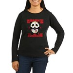 Zombie Panda Women's Long Sleeve Dark T-Shirt