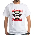 Zombie Panda White T-Shirt