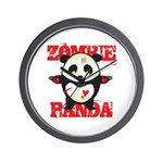 Zombie Panda Wall Clock
