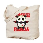 Zombie Panda Tote Bag