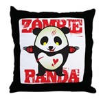 Zombie Panda Throw Pillow