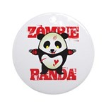 Zombie Panda Ornament (Round)