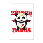 Zombie Panda Mini Poster Print