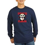 Zombie Panda Long Sleeve Dark T-Shirt