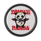 Zombie Panda Large Wall Clock