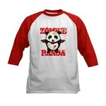 Zombie Panda Kids Baseball Jersey