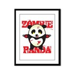 Zombie Panda Framed Panel Print