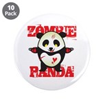 Zombie Panda 3.5&quot; Button (10 pack)