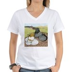 Trumpeter Pigeon Pair Women's V-Neck T-Shirt