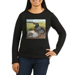 Trumpeter Pigeon Pair Women's Long Sleeve Dark T-S