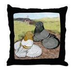 Trumpeter Pigeon Pair Throw Pillow
