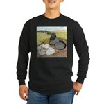 Trumpeter Pigeon Pair Long Sleeve Dark T-Shirt