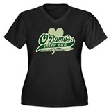 Obama's Irish Pub Women's Plus Size V-Neck Dark T-