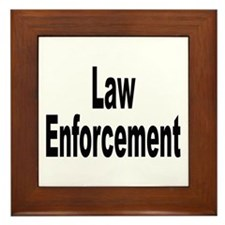 Law Enforcement Framed Tile