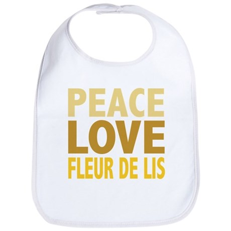 Peace Love Fleur De Lis Bib