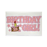 Birthday Girl 21 Rectangle Magnet