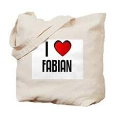 I LOVE FABIAN Tote Bag