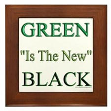 Green The New Black Framed Tile