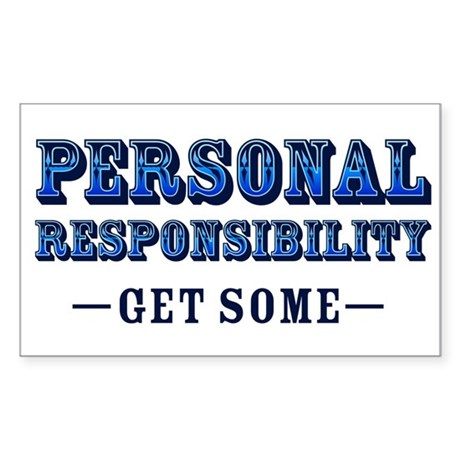 Personal Responsibility Rectangle Sticker