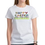 Happy Easter Egg Flowers Tee