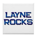 layne rocks Tile Coaster