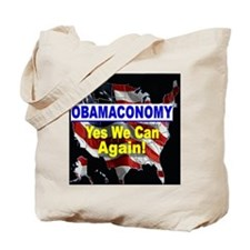 Obamaconomy-blue Tote Bag