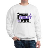 I Wear Violet For My Wife Sweatshirt