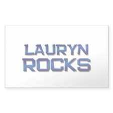 lauryn rocks Rectangle Decal