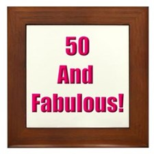 50 and Fabulous Framed Tile