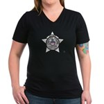 Retired Chicago PD Women's V-Neck Dark T-Shirt