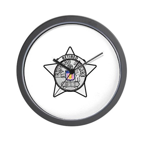 Retired Chicago PD Wall Clock