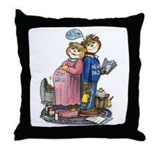 New Parents - Throw Pillow
