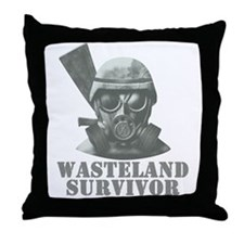 Wasteland Survivor Throw Pillow