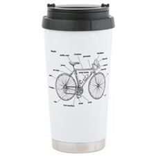 Bicycle Anatomy Ceramic Travel Mug
