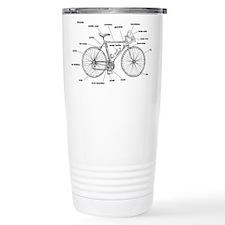 Bicycle Anatomy Ceramic Travel Mug