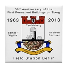 Field Station Berlin Tile Coaster