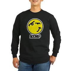 Accha? Long Sleeve Dark T-Shirt