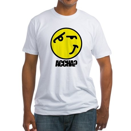 Accha? Fitted T-Shirt