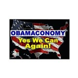 Obamaconomy-blue Rectangle Magnet (100 pack)