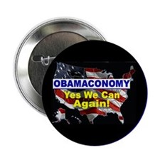"Obamaconomy-blue 2.25"" Button (10 pack)"