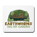 Garden Earthworms Mousepad