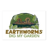 Garden Earthworms Postcards (Package of 8)