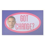 Obama CHANGE Tip Jar Rectangle Decal