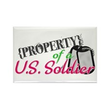Property of a U.S. Soldier Rectangle Magnet