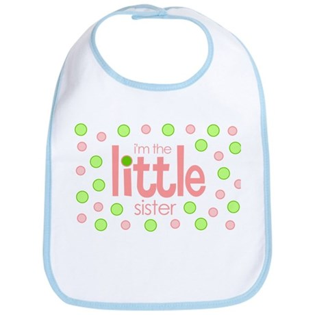little sister t-shirt polkadot Bib