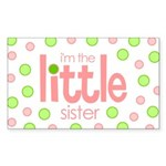 little sister t-shirt polkadot Rectangle Sticker